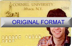 cornell university identity, new identity student id, cornell university identification novelty id software designs