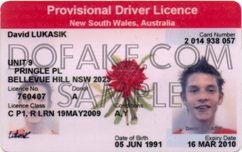New South Wales Provisional Fake ID