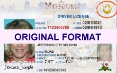 MISSOURI DRIVER LICENSE ORIGINAL FORMAT, DESIGN SPECIFICATIONS, NOVELTY SECURITY CARD PROFILES, IDENTITY, NEW SOFTWARE ID SOFTWARE MISSOURI driver